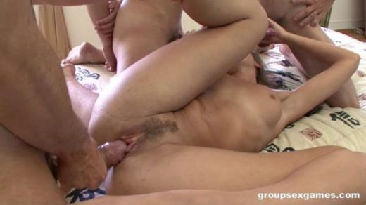 groupsexgames 20 02 09 lady getting all her holes filled by 3 dicks xxx mp4 sdclip