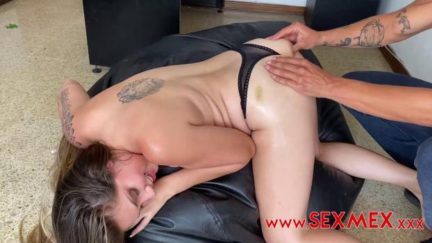 SexMex – Sara – Blonde Studying On All Fours