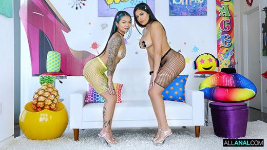 AllAnal – Paisley Paige, Serena Santos – Anal Party