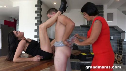 GrandMams – Petra And Ella – Two Mature Sluts Sharing One Cock
