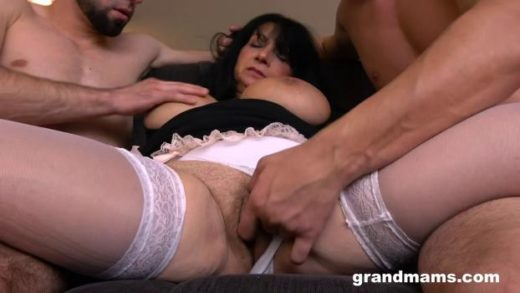 GrandMams – Booby M – DP Creampie With A Mature Slut