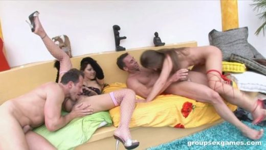 GroupSexGames – Cathy Heaven And Cindy Hope – Roughly Fucked By 2 Guys