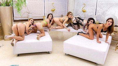 Lesbian strap-on party