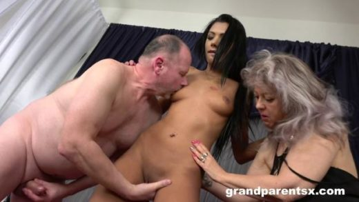 GrandParentsX – Veronique And Adelle Sabelle – First Time Sex With Old Couple