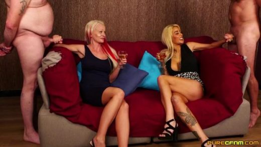 PureCFNM – Alice Judge And Cindy Sun – Wine And Cumshots
