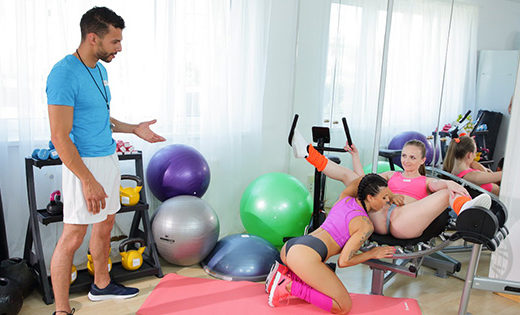 [FitnessRooms] Billie Star, Lady Bug (Milf and petite nymph gym threesome / 04.17.2021)