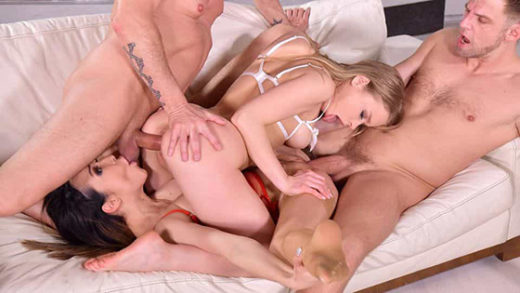 [HandsOnHardcore] Francys Belle, Alexa Flexy (Orgy with Svelte Brazilian And Petite Russian Gets All-Out Intense! / 04.21.2021)