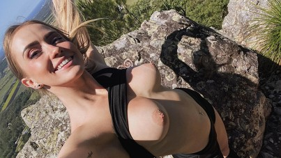 Hiking and anal creampie, scarlet chase