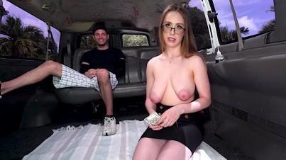 A school teacher with giant tits