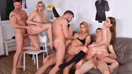 [HandsOnHardcore] Brittany Bardot, Cherry Kiss, Mina (4 Cops And 3 Bad Girls Means One Intense Orgy! / 05.28.2021)