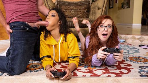 [BrazzersExxtra] Jeni Angel, Madi Collins (Gamer Girl Threesome Action / 06.25.2021)