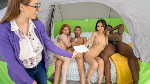 [BrazzersExxtra] Lulu Chu, Annabel Redd (Tag Teaming The Glampers / 06.18.2021)