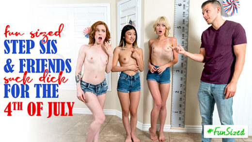 [StepSiblingsCaught] Jessie Saint, Lulu Chu, Madi Collins (Take Your Fun Sized Sister And Her Friends To The Amusement Park For Fourth Of July / 06.30.2021)