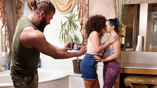 [BrazzersExxtra] Sofi Ryan, Nina Diaz (Jog By Threesome Pick Up / 07.05.2021)