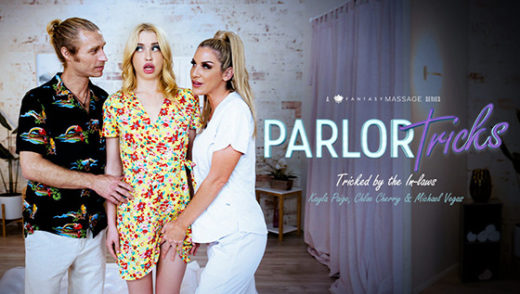 [NuruMassage] Chloe Cherry, Kayla Paige (Parlor Tricks: Tricked By The In-Laws / 08.27.2021)