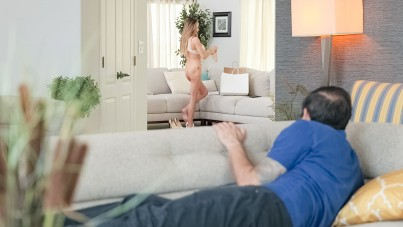 Couch surfing the neighbor's pussy