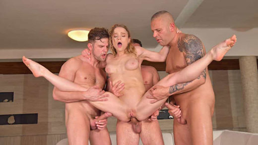 [PornWorld] Alexa Flexy (Fitness Babe Alexa Flexy DP'd After Trading Weights for 3 Cocks / 09.06.2021)