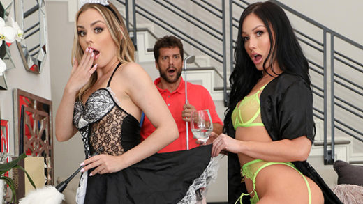 [CherryPimps] Anna Claire Clouds, Jennifer White (Hot Wife Cannot Help Herself Around Petite Maid / 10.18.2021)