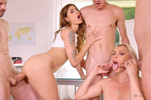 [PornWorld] Billie Star, Brittany Bardot (Parent-Teacher Conference with Billie Star And Brittany Bardot Turns to Hot DP Orgy / 10.11.2021)