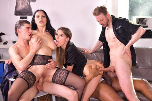 [PornWorld] Eveline Dellai, Kira Queen (Cops Gone Wild: Interracial DP Office Orgie with Detective Dellai Eveline, Kira Queen, and Colleagues / 09.30.2021)
